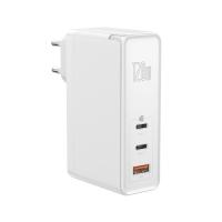Сетевое зарядное устройство Baseus GaN Mini 3 порта, USB + Type-C*2 120W + кабель 100W(20V/5A) 1M Белый