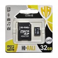 Карта памяти Hi-Rali microSDHC 32GB Class 10 + адаптер UHS-1