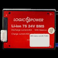 BMS плата Li-ion 24V 7S 40A симметрия