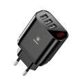Сетевое зарядное устройство Baseus Mirror Lake Intelligent, 3 порта USB, 3.4A, Черный