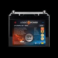 Аккумулятор для автомобиля литиевый LogicPower Lifepo4 12V-70Ah (+ слева, прямая полярность) пластик