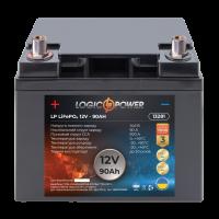 Аккумулятор для автомобиля литиевый LogicPower Lifepo4 12V-90Ah (+ слева, прямая полярность) пластик