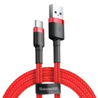 Кабель Baseus Cafule USB 2.0 to Type-C 2A 3M Красный/Черный