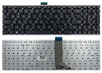 Клавиатура для ноутбука Asus X502 X502C X502CA S500 S500C S500CA черная без рамки Прямой Enter с креплением