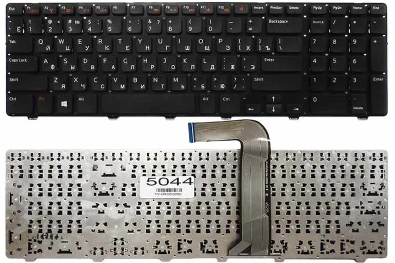 Клавиатура Dell Inspiron N7110 N5720 N7720 Vostro 3750 XPS 17 L702X черная без рамки Прямой Enter