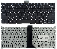 Клавиатура для ноутбука Acer Aspire E3-111 E3-112 V5-121 V5-122 V5-122P V5-131 V5-171 черная без рамки прямой Enter