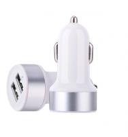 Автомобильное зарядное устройство Devia Smart Dual USBx2 2.4A/1A White