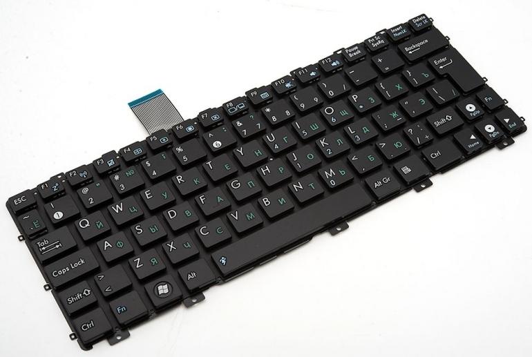 Клавиатура для ноутбука Asus Eee PC 1011 1015 1018 X101 черная без рамки Г-образный Enter