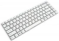 Клавиатура для ноутбука Sony VGN-NW Series белая без рамки Прямой Enter