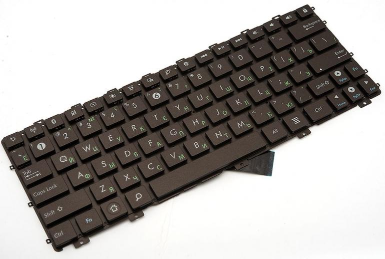 Клавиатура для ноутбука Asus Eee PC 1011 1015 1018 X101 коричневая без рамки Прямой Enter