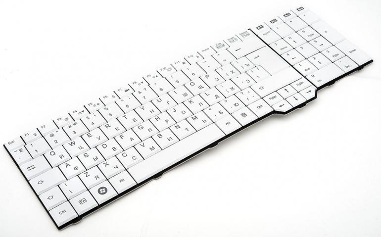 Клавиатура для ноутбука Fujitsu Amilo XA3520 XA3530 PI3625 LI3910 XI3650 белая