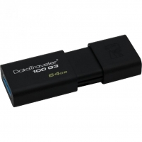 USB накопитель Kingston DataTraveler 100 64GB Black