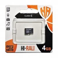 Карта памяти Hi-Rali micro SDHC 4GB Class 4