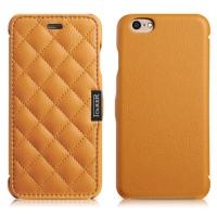 Чехол iCarer для iPhone 6/6S Microfiber Check Brown