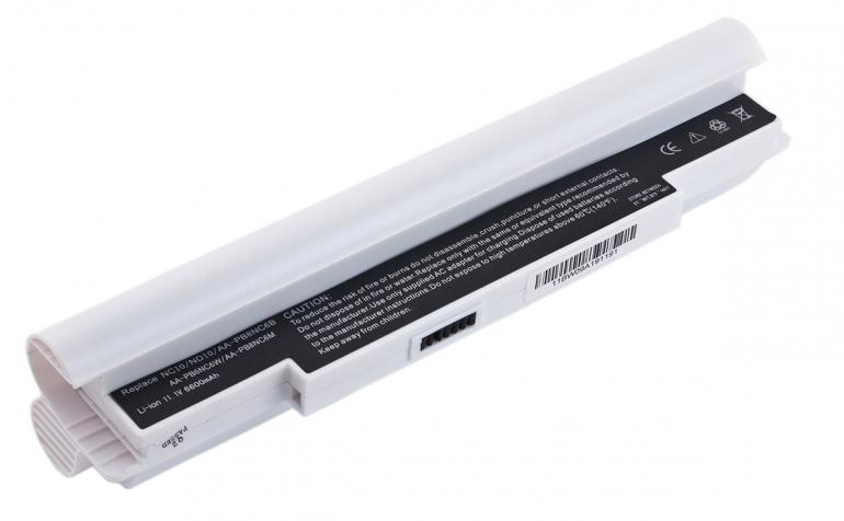 Батарея для ноутбука Samsung NC10 ND10 N110 N120 11.1V 6600mAh, белая