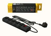 Сетевой фильтр LogicPower LP-X5 2 м, 5 розеток, черный