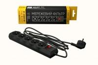 Сетевой фильтр LogicPower LP-X5 3 м, 5 розеток, черный