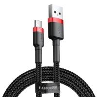 Кабель Baseus Cafule USB 2.0 to Type-C 3A 0.5M Черный/Красный