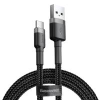 Кабель Baseus Cafule USB 2.0 to Type-C 3A 0.5M Черный/Серый