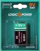Батарейка LogicPower Alkaline 6LR61 9V Крона 1шт
