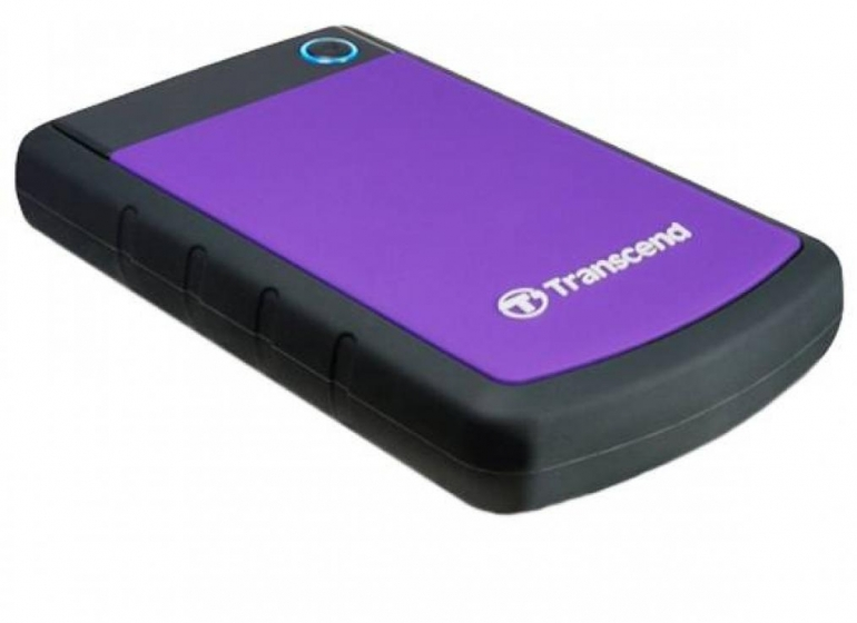Внешний HDD Transcend StoreJet 1TB USB3.0 Black/Purple