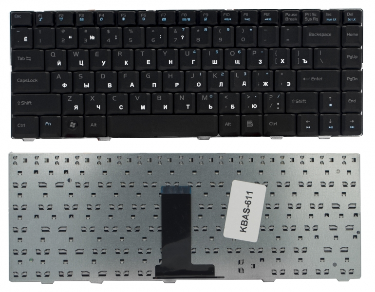 Клавиатура для ноутбука Asus F80 F80CR F80H F80L F80Q F80S F80X черная