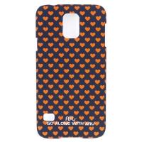 Чехол ARU для Samsung Galaxy S5 Hearts Dark Blue