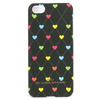 Чехол ARU для iPhone 5C Hearts Dark Brown