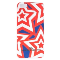 Чехол ARU для iPhone 5C Stars Red