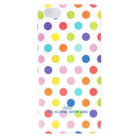 Чехол ARU для iPhone 5C Cutie Dots White Rainbow