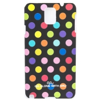 Чехол ARU для Samsung Galaxy Note 3 Cutie Dots Black Rainbow