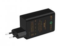 Сетевое зарядное устройство KFD Qualcomm Quick Charge 2.0 5V2A 9V2A 12V1.5A, 5V2.4Ax2port USB Black