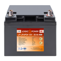 Аккумулятор для автомобиля литиевый LogicPower Lifepo4 12V-36Ah (+ справа, обратная полярность) пластик