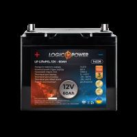 Аккумулятор для автомобиля литиевый LogicPower Lifepo4 12V-60Ah (+ слева, прямая полярность) пластик