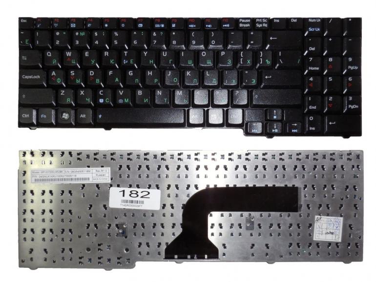 Клавиатура для ноутбука Asus M50 M50EI M50V M70 M70V M70L G50 G70 F7 X71 X61 Z83 G50VT G70V A7S A7K X57 черная