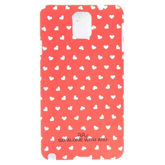 Чехол ARU для Samsung Galaxy Note 3 Hearts Red