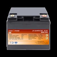Аккумулятор LogicPower Lifepo4 24V-30Ah (BMS 20A) пластик