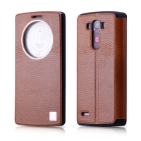 Чехол Xoomz для LG G3 Litchi Pattern Leather Brown (side-open)