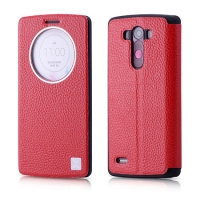Чехол Xoomz для LG G3 Litchi Pattern Leather Red (side-open)