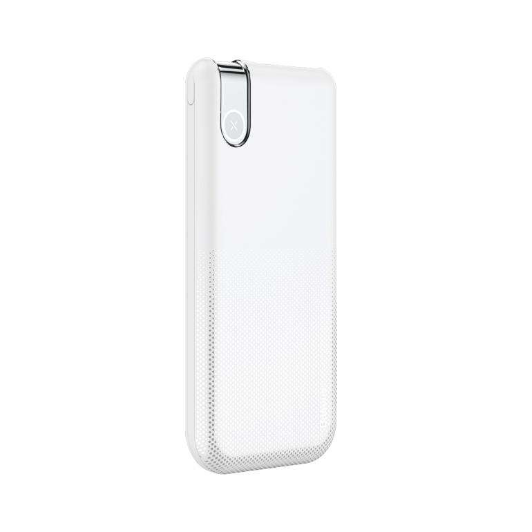 Беспроводной Внешний Аккумулятор Baseus Thin 10000mAh Белый