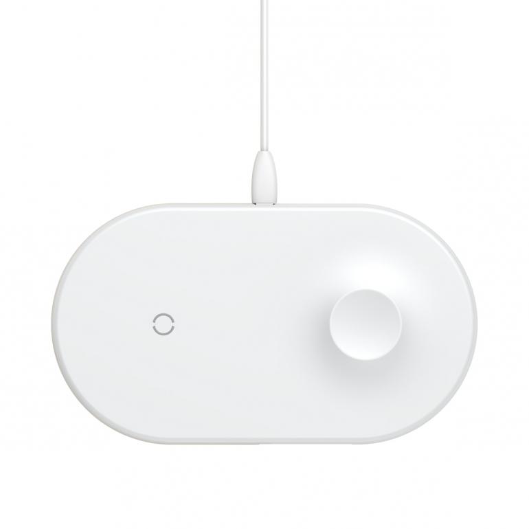 Беспроводное зарядное устройство Baseus Smart 2in1 White