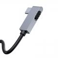 USB Hub Baseus Bend Angle No.7 Multifunctional Type-C to USB3.0*2 + HDMI + microSD + mini-jack 3.5 mm + Type-C PD Серый