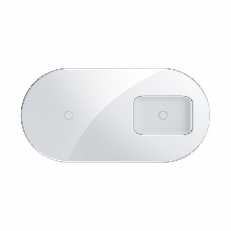 Беспроводное зарядное устройство Baseus Simple 2 in 1 AirPods Pro Белый