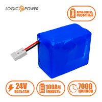 Аккумулятор LogicPower Lifepo4 24V-100Ah (BMS 60A)