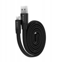 Кабель Devia Ring Y1 microUSB 2.4A 0.8M Черный