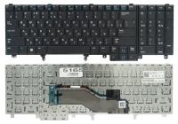Клавиатура Dell Latitude E6520 E6530 E6540 E5520 E5520M E5530 Precision M4800 M6800 черная, fingerpoint, Оригинал