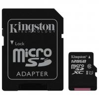 Карта памяти Kingston microSDXC 128GB Canvas Select Class 10 UHS-1 + SD адаптер
