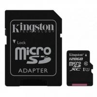 Карта памяти Kingston microSDXC 128GB Canvas Select Plus Class 10 UHS-I U1 + SD адаптер