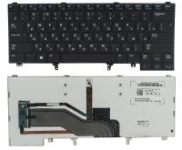 Клавиатура Dell Latitude E6440, черная, подсветка, Fingerpoint, Оригинал