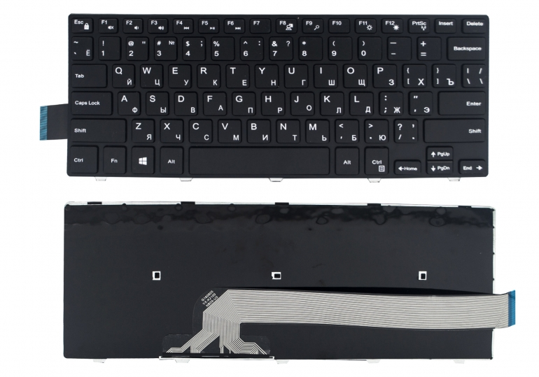 Клавиатура для ноутбука Dell Latitude 3450 3470 3488 Vostro 14 3445 3458 3468 Inspiron 14 3441 3452 3465 3580 5448 5451 5468  черная